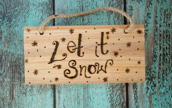 Wood Burn 'Let It Snow' Craft