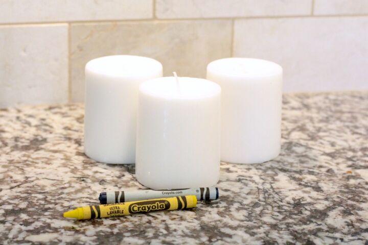 dip dyed crayon candles