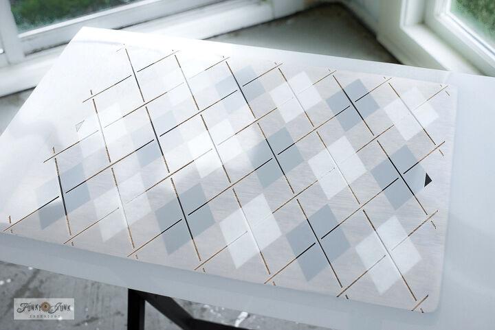 how to argyle up a ho hum tv tray