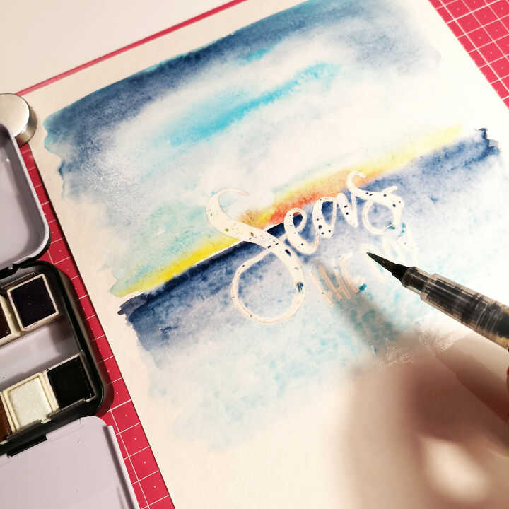 watercolour hand lettering poster