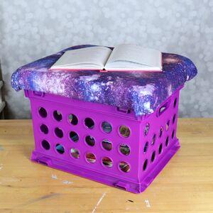 Whimsical galaxy kids storage crate