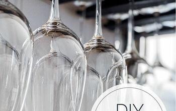 DIY Hanging Wine Glass Rack
