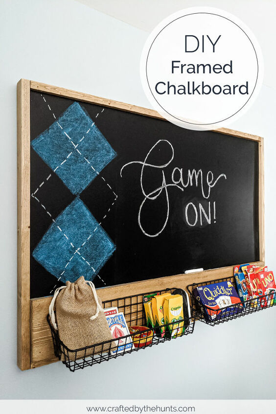 https www craftedbythehunts com diy framed chalkboard