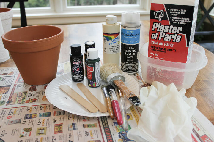 how to age and add texture to clay pots