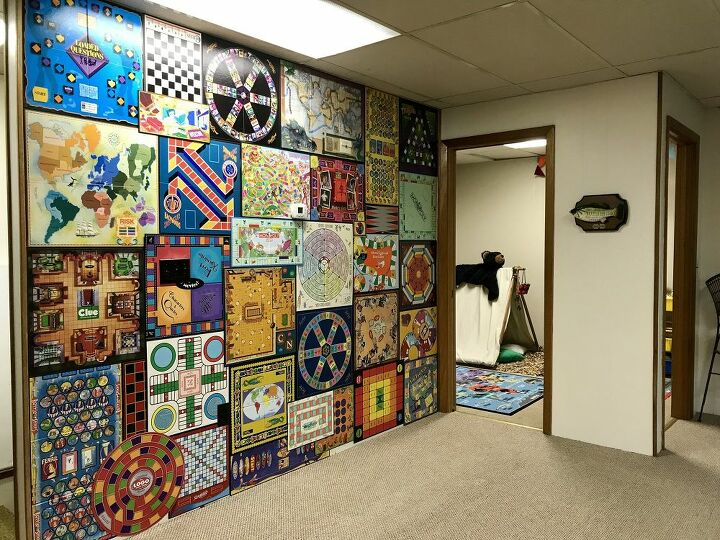 How To Make A Board Game Wall Art Accent Wall Gameroom Diy Hometalk