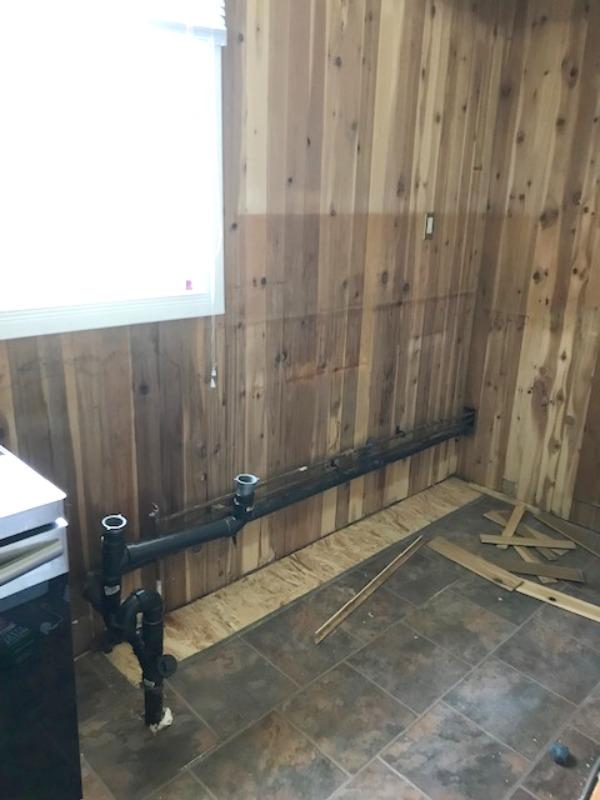 dark cottage kitchen updated to a new modern farmhouse style