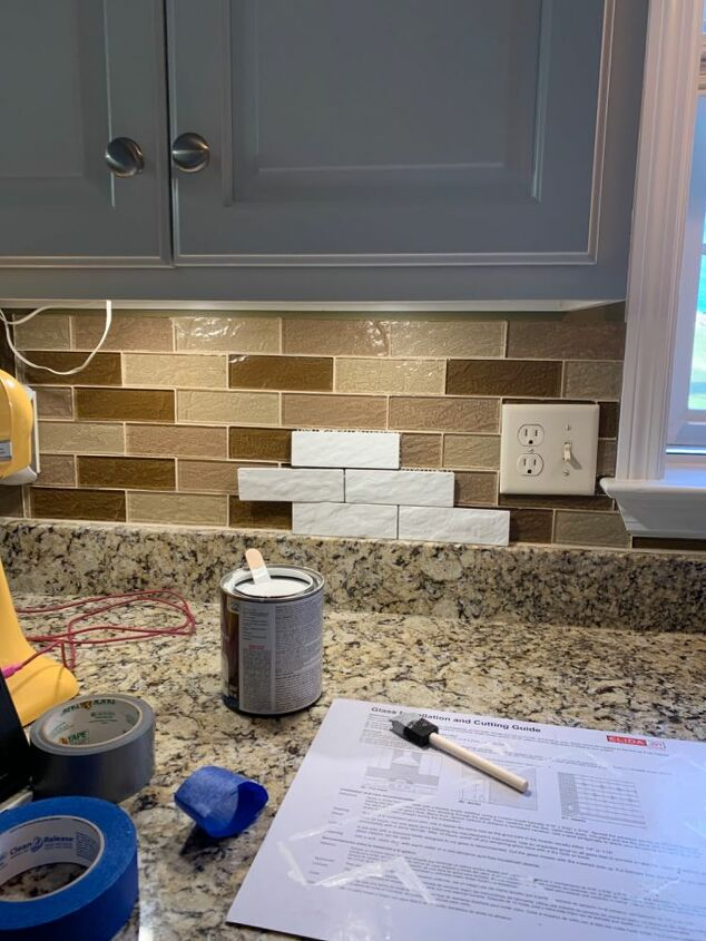 Painting Glass Textured Tile, Can You Paint Over Glass Tile
