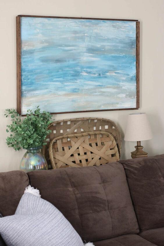 diy abstract wall painting