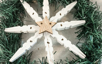 Clothe Pin Snowflake Kitchen Cabinets Wreath