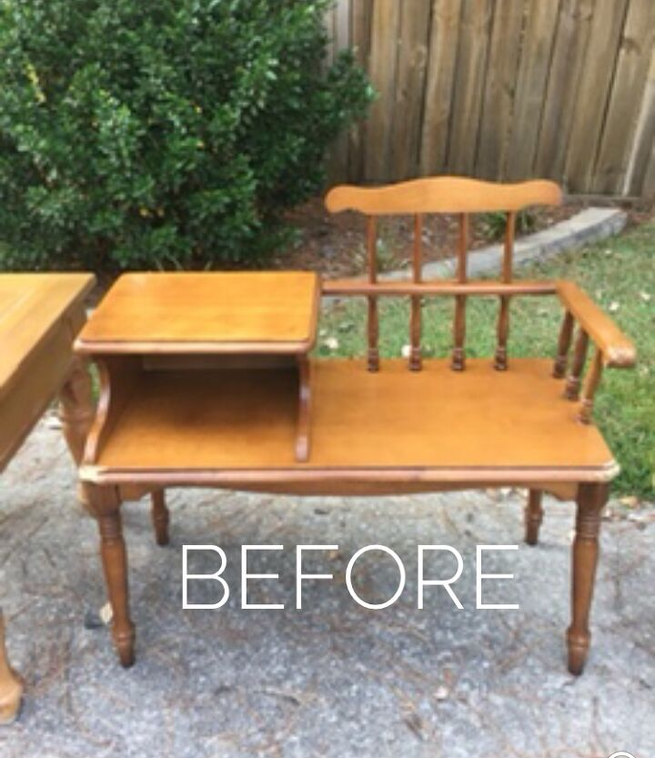a gossip bench gets a much needed makeover