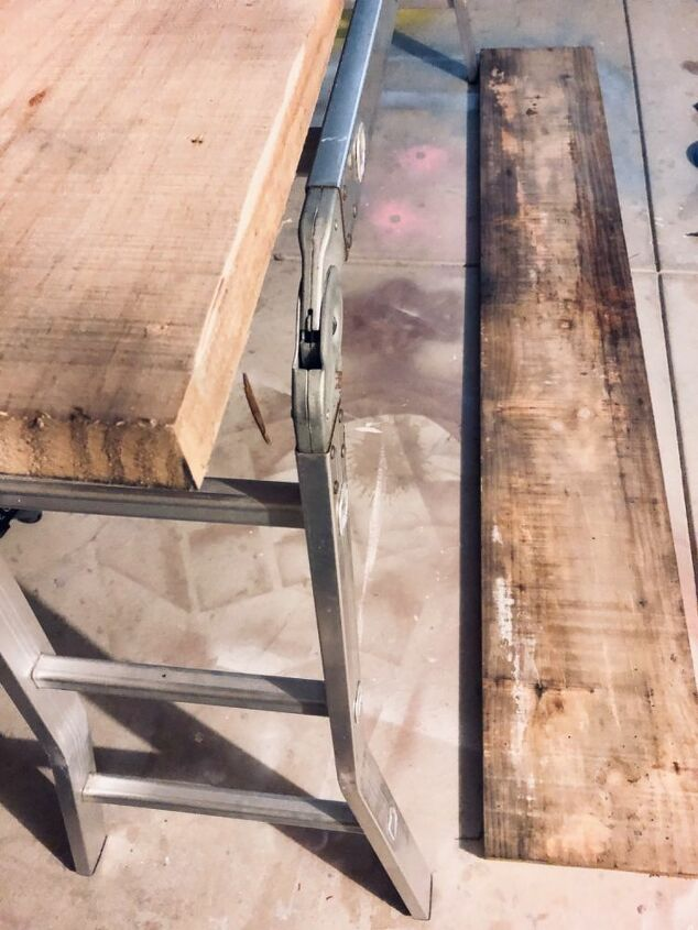 Recycled timber planks