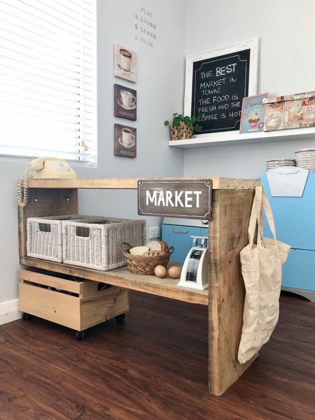 diy kids rustic market stall