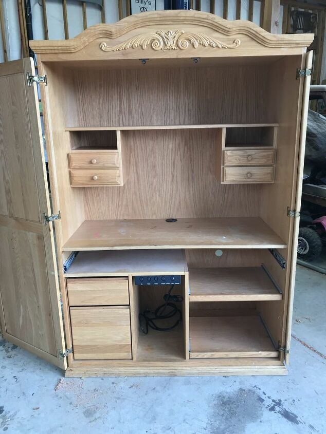 turn a 60 computer armoire into a cricut craft cabinet