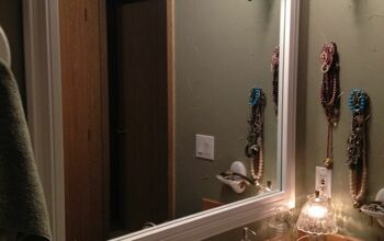 How I Framed Our Contractor Grade Bathroom Mirror for Under $25
