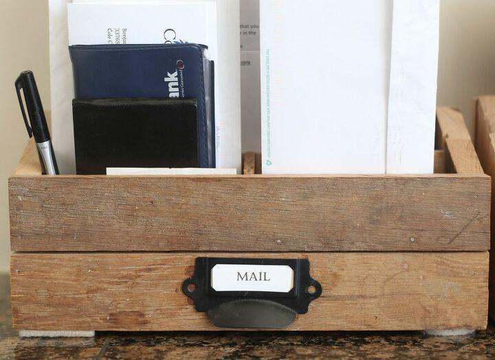 diy charging station or mail organizer