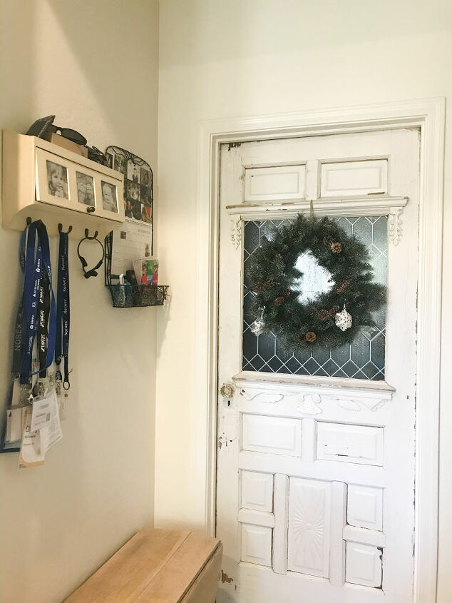 add charm to an old farmhouse door with new trim