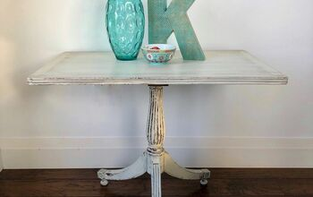 Antique Side Table in Warm White Shackteau Milk Paint