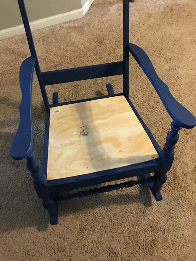trash to treasure old blue chair