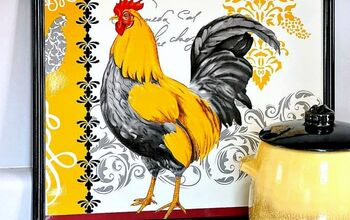 Frame A Rooster Placemat And Hang It On The Wall