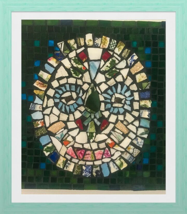 Mosaic mask wall art