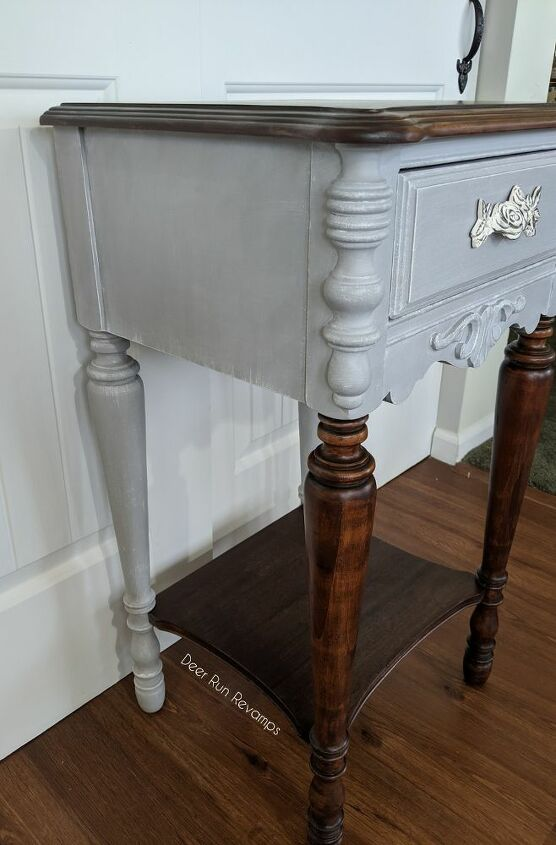 a unique and updated look for that old side table