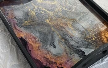 Resin and Wood Serving Tray