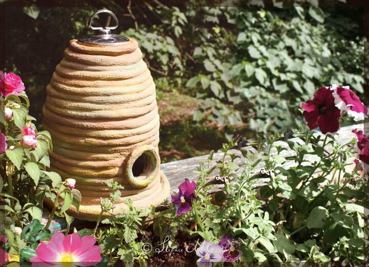 s 10 cute clay crafts you need to do this weekend, Make a clay bee skep for cottage style decor