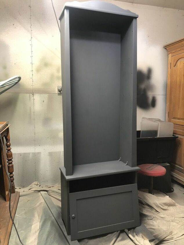 gun cabinet turned hutch display color update