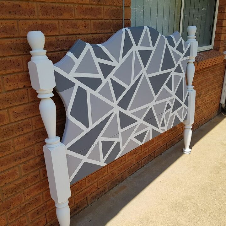 DIY Geometric design headboard