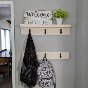 Rustic entryway hook racks