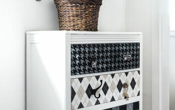 How to Flip an Outdated Dresser Into Whimsical Fabric With Paint!