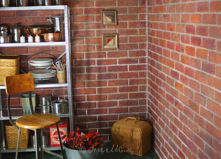 how to paint bricks on textured walls with a roller and brush
