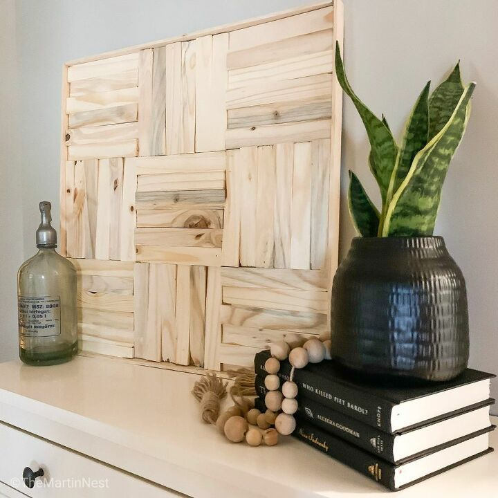 cheap and easy diy wall art with wood shims