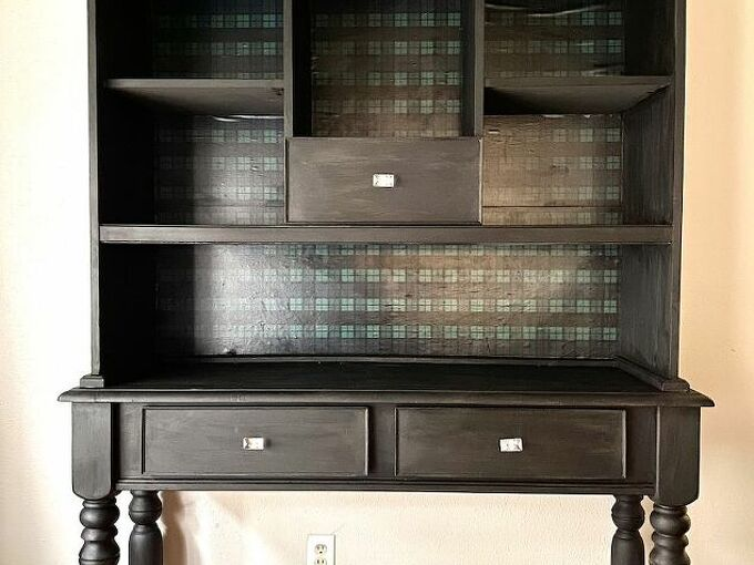 chalk paint furniture makeover for beginners, Finished Hutch