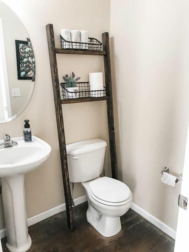 bathroom blanket ladder