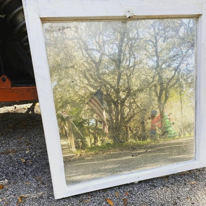 antique window made into antique mirror
