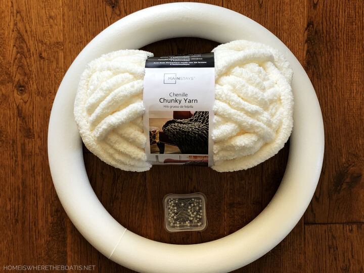 an easy finger knitting project diy winter wreath