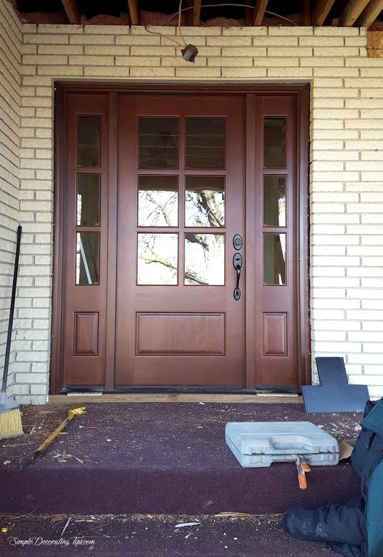 before and after front entry