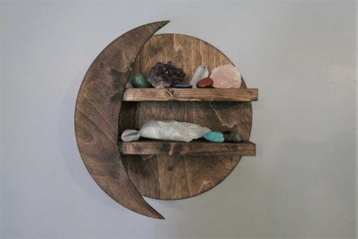 diy moon shelf