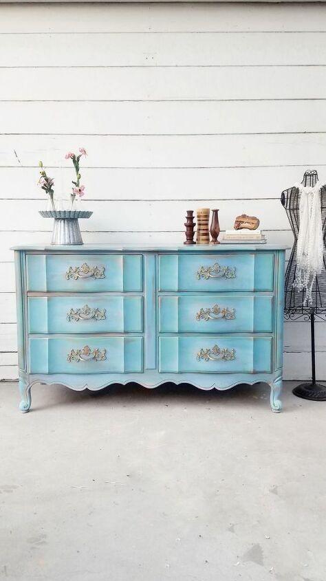 How To Paint A Colorful Dresser Makeover Diy Hometalk