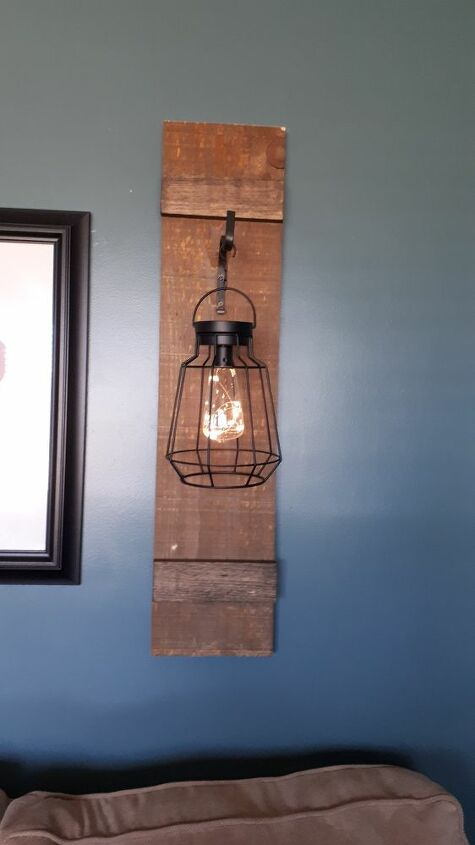 how to make decorative lighting using barnboard