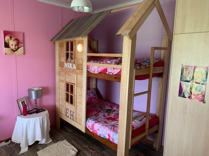 diy bunk bed house