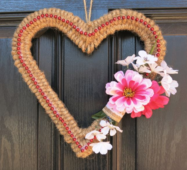 farmhouse valentine s day wreath made with christmas garland