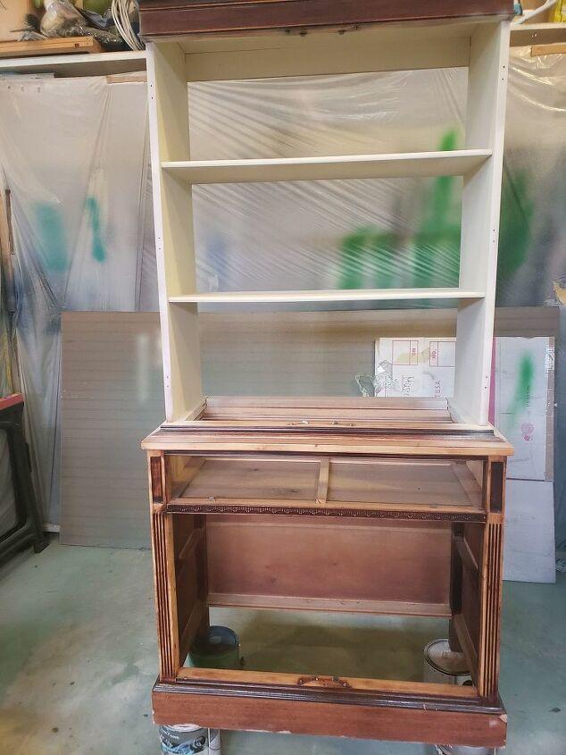 vintage china cabinet makeover
