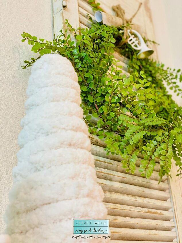 repurposing shutters into a table or shelf
