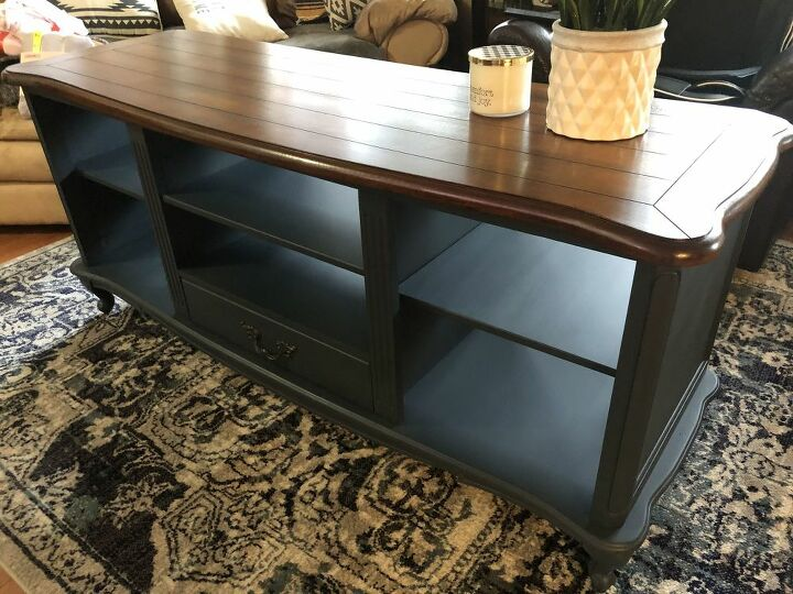 refinished tv stand