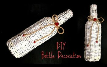 Bottle Decoration Ideas From Waste Paper