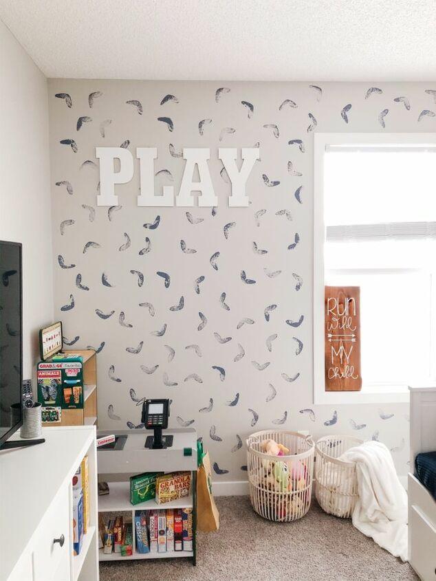 playroom diy accent wall