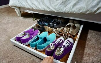 Under-the-bed Slide Out Shoe Storage