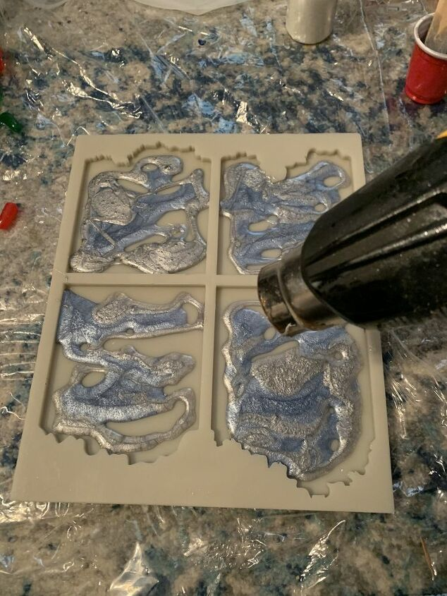 how to make coasters in the shape of a geode